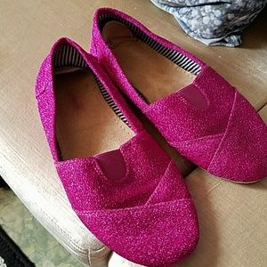 Shoes - Glitter hot pink shoes